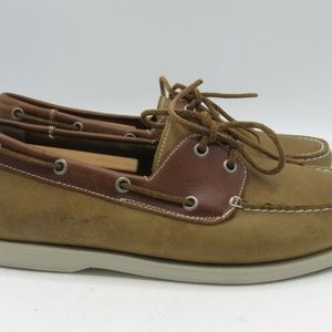 J. Murphy Shoes - J. Murphy Sz 9.5 M Brown Leather Boat Shoes R5B3